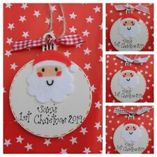 Babys First 1st Christmas Tree  Decoration bauble personalised
