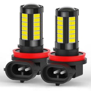 2x H11 H16 H8 LED Fog Driving Light 6000K Super Bright Bulbs 2000LM Error Free