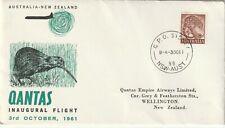 1961 Australia cover First Flight Australia- New Zealand (Sydney-Wellington)