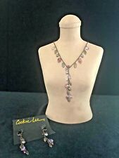 Cookie Lee Signed Fresh Water Peral Neckless & Earrings Bronze Color Nice!!