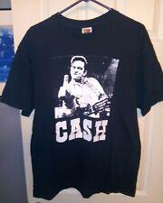 JOHNNY CASH MIDDLE FINGER ROCK PUNK Country Black T SHIRT XL