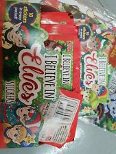 Topps I BELIEVE IN ELVES Box Full 100 Packets Of Stickers Brand New+Staret pack