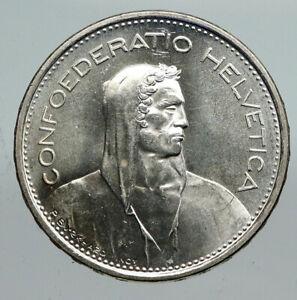 1967 Switzerland Founding HERO WILLIAM TELL 5 Francs Silver Swiss Coin i91307
