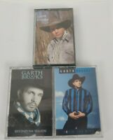 Lot of 3 Garth Brooks Cassette Tapes - 80's & 90's Country Music