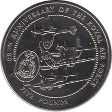 1998 The Royal Mint 80th Anniversary of RAF £5 BU Coin