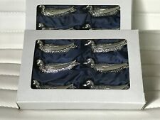 Silea Silver French Plated Knife Rest Ducks 6pc Set Antique Tableware NIB NEW