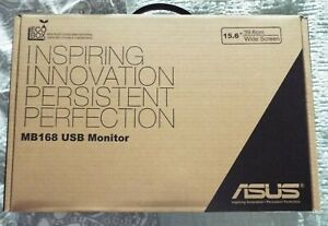 "ASUS 15.6"" MB168 USB MONITOR.WIDE SCREEN.+ COVER. £124 RRP. NEW"