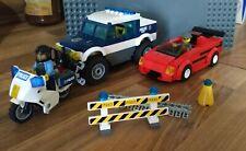 policier motard accessoires Lego moto police City 52035 Blanc