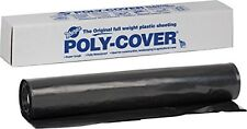 Waterproof Tear Resistant Poly Cover 4 Mil Thick Plastic Sheeting - 20ft x 25ft