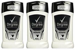 3 pack Degree Men Ultra Clear Black Plus White Antiperspirant 2.7oz each