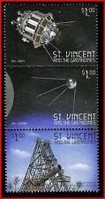 ST.VINCENT = RUSSIA/USA= SPACE = TELESCOPE, ASTRONOMY, LUNA 9  MNH ** postfrisch