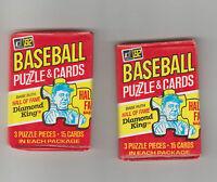 Baseball card Wax Pack Original 1982 Donruss