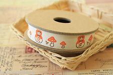 Cute Matryoshka mushroom toadstools zakka craft sewing tape fabric trim ribbon