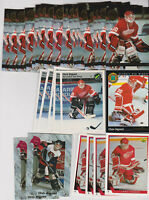 (46) card Chris Osgood mixed lot w/ (35) rookies, Detroit Red Wings legend