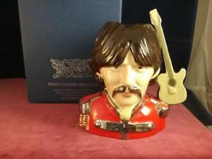 Peggy Davies Ceramics George Harrison The Beatles Character Jug Ex Royal Doulton