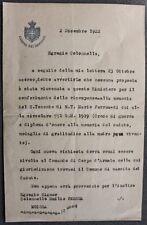 Autografo Lettera Deputato politica Marcello Soleri 1922 liberale