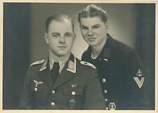 Foto, Portrait, Wehrmacht, Soldaten, Waffenbrüder, Luftwaffe * Kriegsmarine