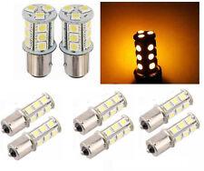 Lot 6 PCS Amber 18 LED Car Auto Tail Rear Turn Brake Light Bulbs Lamp BA15S 1156