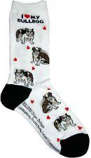 I Love My Bulldog (631110) Women Socks Cotton New Gift Fun Unique Fashion