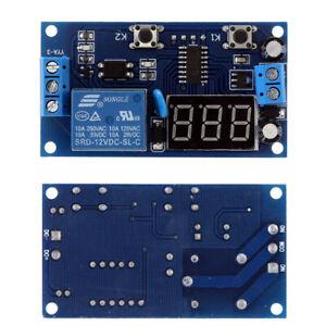 12V Digital Delay Time Module Switch Control Relay Cycle Timer PCB Board E3B0