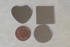 1:12 SCALA 3 Senza Cornice Vero Cristallo A Forma Di Specchi Casa delle Bambole Accessorio in miniatura