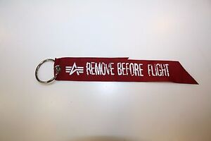 Alpha Industries Rbf Key Ring 191907 Remove Before Flight Keychain
