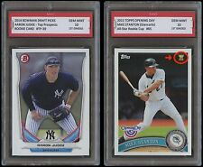 AARON JUDGE & MIKE STANTON BOWMAN Topps 1ST GRADED 10 ROOKIE CARD RC LOT YANKEES