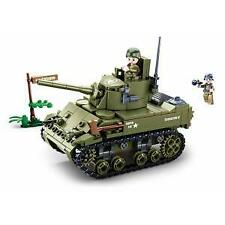 JEU DE CONSTRUCTION COMPATIBLE LEGO SLUBAN ARMY CHAR TANK LEGER ALLIE MILITAIRE