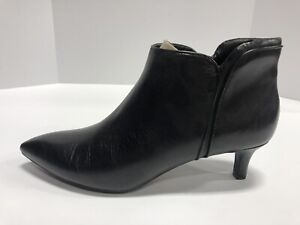 Rockport Kalila Piping Black Zip Up Booties Women's Size 10.5 Narrow V81227