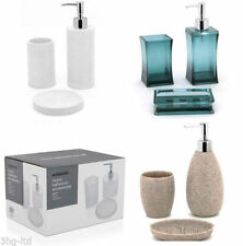Set di accessori da bagno in plastica blu