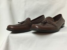 Naturalizer Woman's Comfort Brown Tassel Leather Slip On Shoes Size 11S