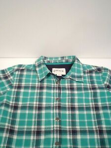 Orvis Women's Fleece Lined Shirt Jacket Size XL Green Soft Flannel Shell 1173730