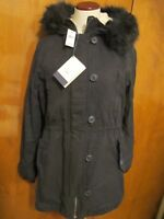 Gap women's black stylish winter coat two in one size Large NWT