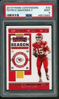 Patrick Mahomes Kansas City Chiefs 2019 Panini Contenders Football Card 39 PSA 9