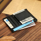 NEW Men Leather Wallet Money Clip Credit Card ID Holder Front Pocket Thin Slim