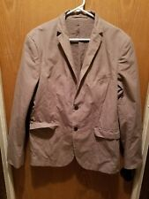 H&M Brown Slim Fit Men's Coat Jacket Winter Fashion Casual Outerwear Overcoat