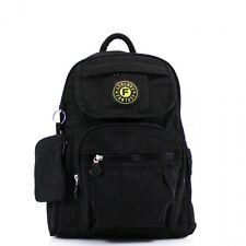 Unisex black adult kids school backpack rucksack hobo bag satchel shoulder bag
