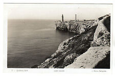 Lighthouse - Gibraltar Real Photo Postcard c1920s
