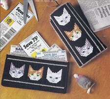 **CAT EYEGLASSES CASE & COUPON KEEPER TO STITCH**PLASTIC CANVAS PATTERN**