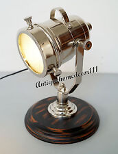 Model Spotlight  Chrome Searchlight Decorative With Wooden Base Best Gift