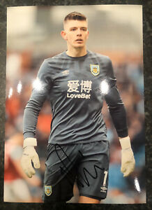 Nick Pope Hand Signed 12x8 2020/21 Burnley FC Photo