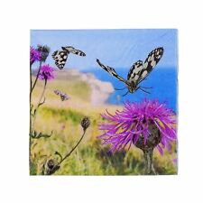 Mariposa Cardo CLIFF MAR VISTA Paquete de 20 3 Capas 33cm x 33cm