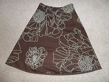 GEORGEOUS  LINED 100% COTTON SKIRT BY COAST IN VG CON SIZE UK 10 WAIST 28""