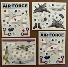New Creative Memories Air Force Sticker Pack:4 Block Sticker Sheets