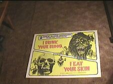 I DRINK YOUR BLOOD AND I EAT YOUR FLESH COMBO  HALF SHEET 22X28 MOVIE POSTER