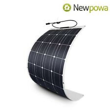 NewPowa 100 Watt 12V 100W Flexible Solar Pane Semi-Flex High Mono Module