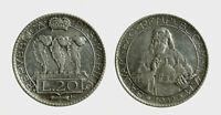 s537_15) San Marino Vecchia Monetazione (1864-1938) 20 LIre 1932