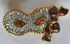 Pin de eventos de Swarovski 1999 Pierrot Máscara Tabac/ámbar retirado Raro