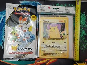 Pokemon First Partner Binder and Booster Pack - 25th SEALED ! FAST SHIPPING