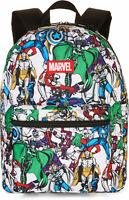 Marvel Avengers Comic Print 16 Backpack School Supplies Book Bag Children's